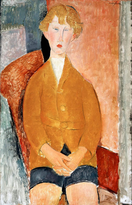 Boy in Short Pants, c.1918 | Modigliani | Painting Reproduction