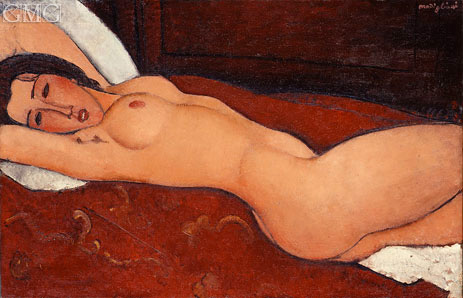 Reclining Nude, 1917   Modigliani   Painting Reproduction