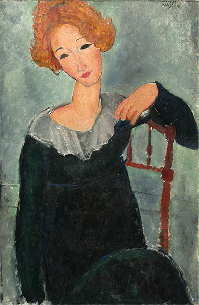 Woman with Red Hair, 1917 | Modigliani | Giclée Canvas Print