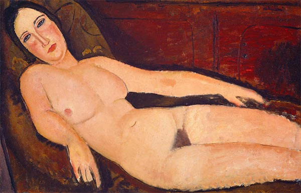 Nude on a Divan, 1918 | Modigliani | Giclée Canvas Print