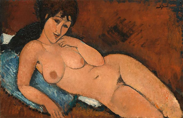 Nude on a Blue Cushion, 1917 | Modigliani | Giclée Canvas Print