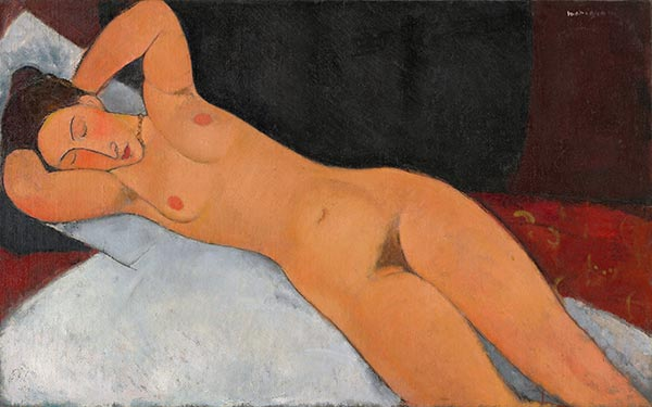 Nude, 1917 | Modigliani | Painting Reproduction