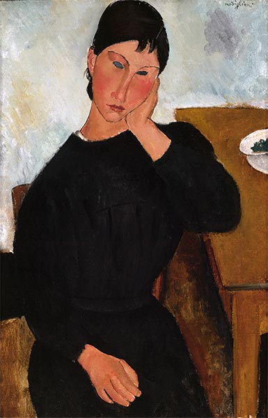Elvira Resting at a Table, 1919 | Modigliani | Giclée Canvas Print