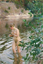 Anders Zorn |  Frileuse (Shivering Girl), 1894 | Giclée Canvas Print
