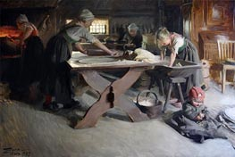 Anders Zorn | Baking Bread, 1889 | Giclée Canvas Print