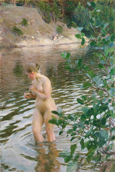Frileuse (Shivering Girl), 1894 | Anders Zorn | Giclée Canvas Print