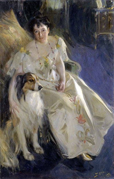 Mrs. Walter Rathbone Bacon, 1897 | Anders Zorn | Painting Reproduction