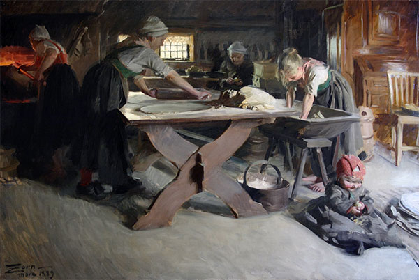 Baking Bread, 1889 | Anders Zorn | Giclée Canvas Print