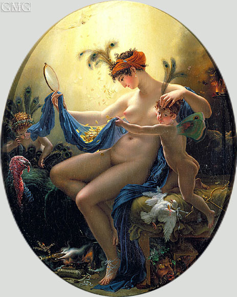 Portrait of Mlle Lange as Danae, 1799 | Girodet de Roussy-Trioson | Painting Reproduction