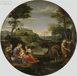 Annibale Carracci | Holy Family (Rest on the Flight into Egypt), c.1604 | Giclée Canvas Print