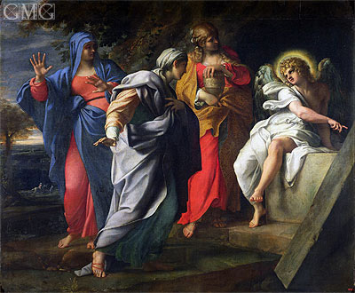 The Holy Women at Christ's Tomb, c.1597/98 | Annibale Carracci | Giclée Canvas Print