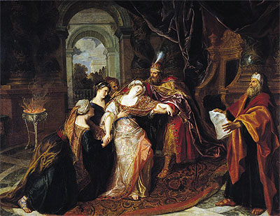 Antoine Coypel | The Swooning of Esther, b.1697 | Giclée Canvas Print