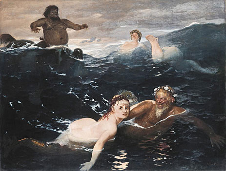 Playing in the Waves, 1883 | Arnold Bocklin | Giclée Canvas Print