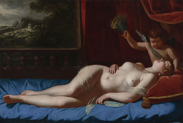 Venus and Cupid, c.1625/30 | Artemisia Gentileschi | Painting Reproduction