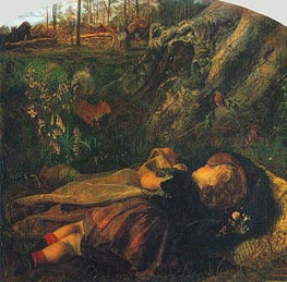 Arthur Hughes | The Woodsman's Child, 1860 | Giclée Canvas Print