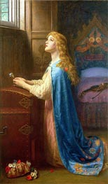 Arthur Hughes | Forget me Not, undated | Giclée Canvas Print