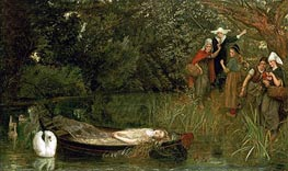 Arthur Hughes | The Lady of Shalott, 1858 | Giclée Canvas Print