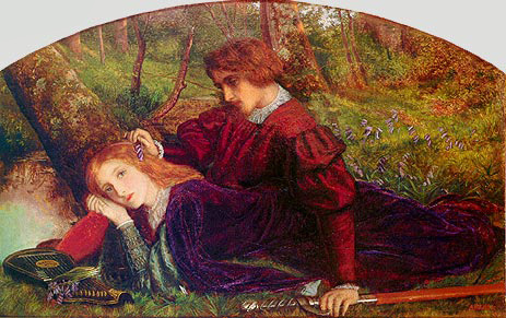 The Brave Geraint (Geraint and Enid), c.1860 | Arthur Hughes | Giclée Canvas Print