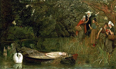 The Lady of Shalott, 1858 | Arthur Hughes | Giclée Canvas Print