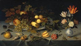 van der Ast | Still Life with Fruit and Flowers, 1620 | Giclée Canvas Print