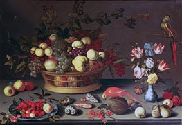 van der Ast | A Basket of Grapes and other Fruit, Undated | Giclée Canvas Print