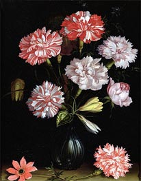 van der Ast | Floral Study: Carnations in a Vase, undated | Giclée Canvas Print