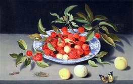 van der Ast | Still Life of Cherries and Peaches | Giclée Canvas Print