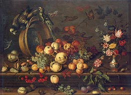 van der Ast | Still Life with Fruits, Shells and Insects | Giclée Canvas Print