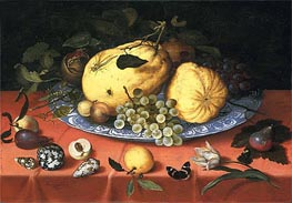 van der Ast | Fruit Still Life with Shells and a Tulip, c.1620 | Giclée Canvas Print