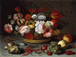 van der Ast | Basket of Flowers, c.1622 | Giclée Canvas Print
