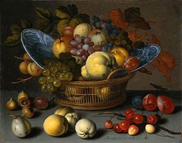 van der Ast | Basket of Fruits, c.1622 | Giclée Canvas Print