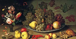 van der Ast | Still Life with Fruits and Flowers | Giclée Canvas Print
