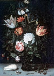 van der Ast | Vase of Flowers, undated | Giclée Canvas Print