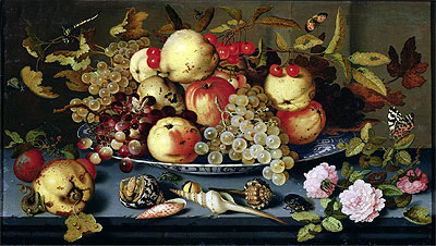 Still Life with Fruit, Flowers and Seafood, 1623 | van der Ast | Giclée Canvas Print