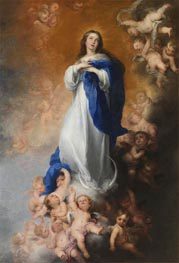 Murillo | The Immaculate Conception of Los Venerables, c.1678 | Giclée Canvas Print