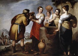 Murillo | Rebecca and Eliezer, c.1660 | Giclée Canvas Print