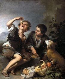 Murillo | The Pie Eaters, c.1675/82 | Giclée Canvas Print