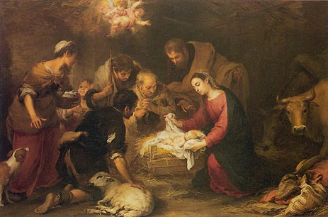 The Adoration of the Shepherds, c.1665/68 | Murillo | Painting Reproduction