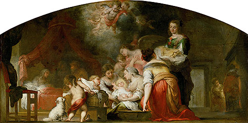 The Birth of the Virgin, 1661 | Murillo | Giclée Canvas Print