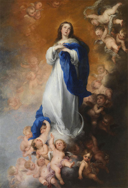 The Immaculate Conception of Los Venerables, c.1678 | Murillo | Giclée Canvas Print