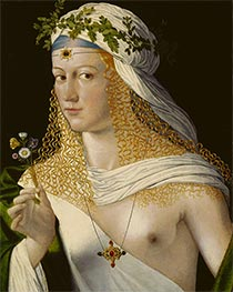 Bartolommeo da Veneto | Young Woman (Lucrezia Borgia), early 16th | Giclée Canvas Print