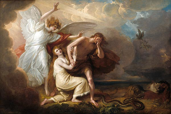 The Expulsion of Adam and Eve from Paradise, 1791 | Benjamin West | Giclée Canvas Print