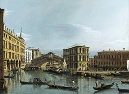 Bernardo Bellotto | Venice: View of the Grand Canal with the Rialto Bridge | Giclée Canvas Print