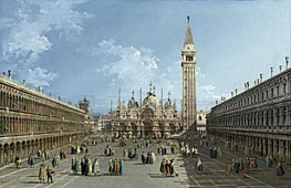 Bernardo Bellotto | The Piazza San Marco, Venice | Giclée Canvas Print