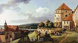 Bernardo Bellotto | Sonnenstein Fortress above Pirna | Giclée Canvas Print