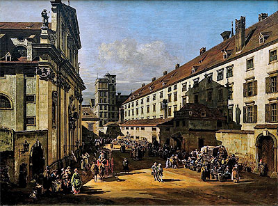 The Dominican's Church in Vienna, c.1758/61 | Bernardo Bellotto | Painting Reproduction