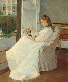 Berthe Morisot | The Artist's Sister at a Window | Giclée Canvas Print