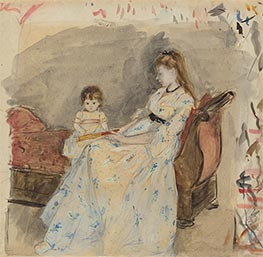 Berthe Morisot | The Artist's Sister, Edma, with Her Daughter, Jeanne | Giclée Canvas Print
