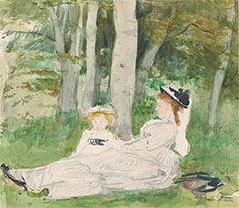 Berthe Morisot | At the Edge of the Forest (Edma and Jeanne) | Giclée Canvas Print