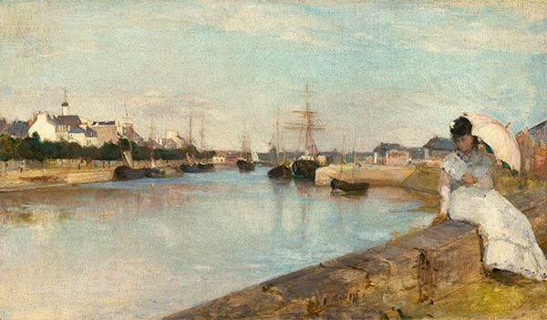 The Harbor at Lorient, 1869 | Berthe Morisot | Giclée Canvas Print